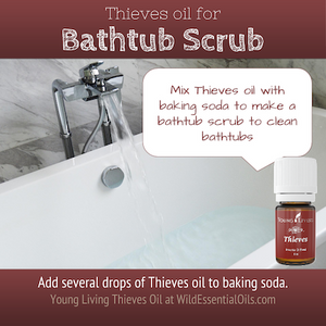 Thieves Oil for bathtub scrub