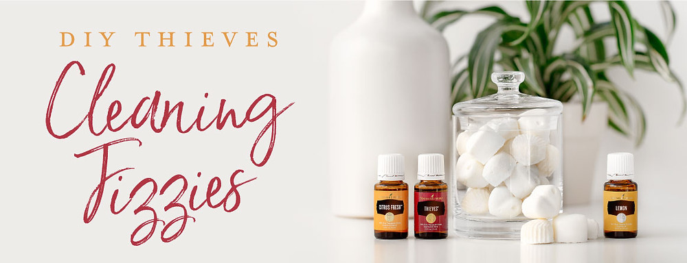 DIY Cleaning Fizzie with Citrus Fresh, Thieves and Lemon Essential Oils