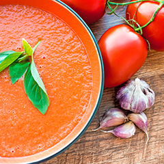 Roasted Tomato Basil Soup Recipe with Thyme, Basil and Black Pepper Essential Oil