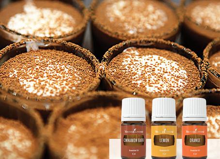 Creamy Chocolate Coconut Pots and Caramel Sauce Recipe with Orange Essential Oil