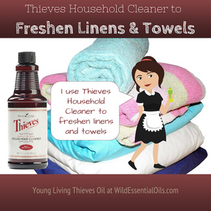 Thieves Cleaner to freshen linens