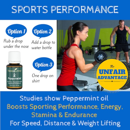 Peppermint oil fo Sports Performance