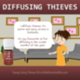 Diffusing Thieves essential oil