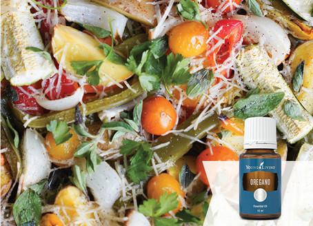 Easy Vegetable Bake Recipe with Oregano Essential Oil