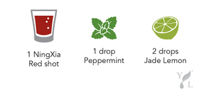 Ningxia Red shot recipe peppermint jade lemon