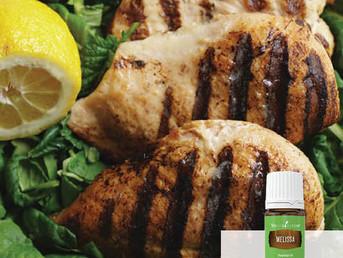 Lemon Herb Chicken Recipe with Black Pepper essential oil