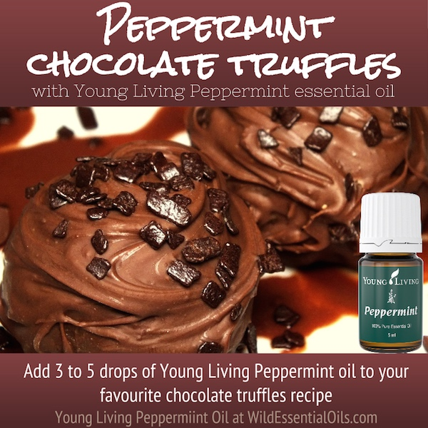 Peppermint essential oil chocolate