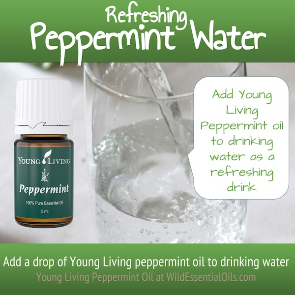 Peppermint essential oil water