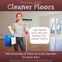 Thieves oil for floor cleaning