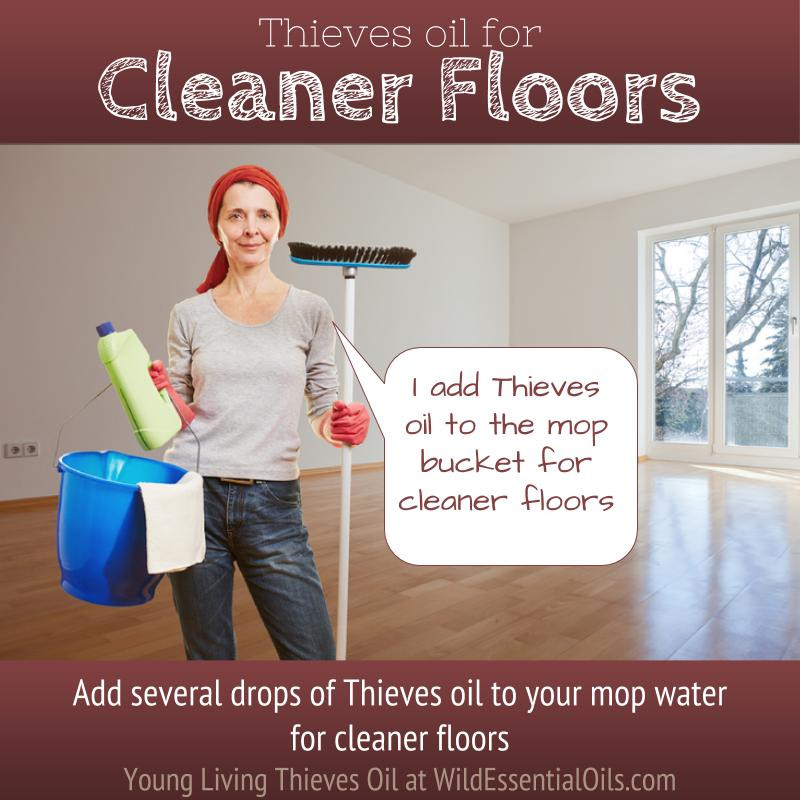 Thieves Oil for cleaning floors