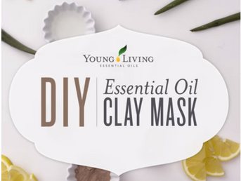 DIY Purifying Clay Mask with Geranium, Tea Tree and Lemon Essential Oils