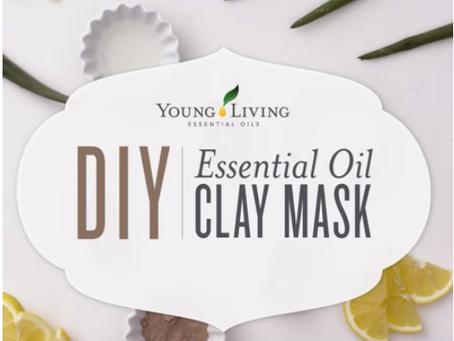 DIY Purifying Clay Mask with Geranium, Tea Tree and Lemon Essential Oils