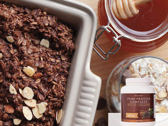 Chocolate Protein Baked Oats Recipe with Pure Protein Complete