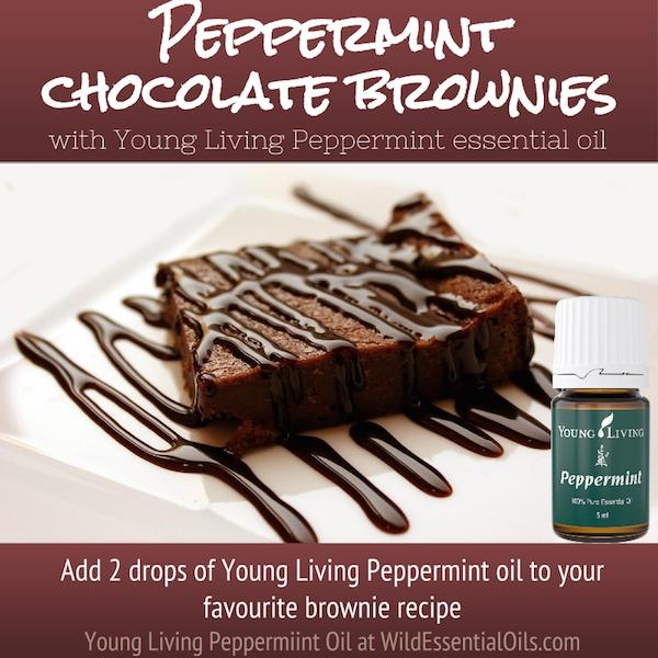 Peppermint essential oil brownies
