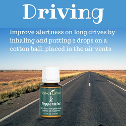 Peppermint essential oil for Driving