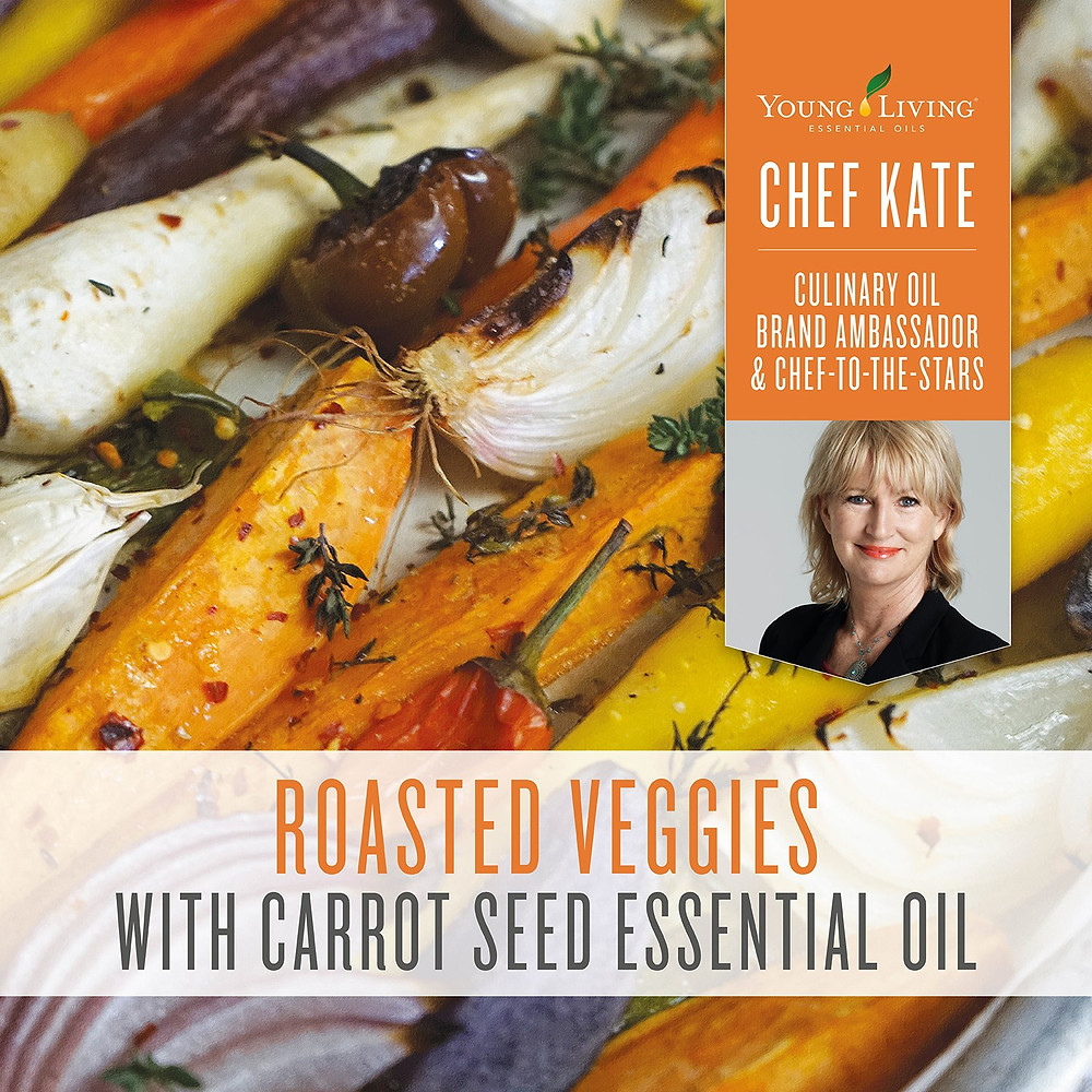 Roasted Veggies Recipe with Carrot Seed Essential Oil