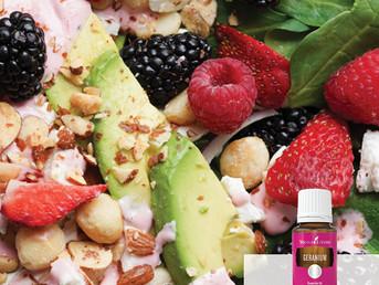 Berry Salad Recipe with Geranium Essential Oil