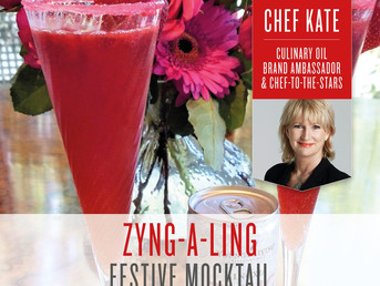Zyng-A-Ling Mocktail Recipe with Lemon and Orange Essential Oil