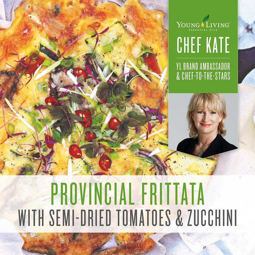 Provincial Frittata Recipe with Lemon and Citrus Fresh Essential Oil