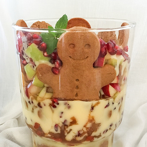 Cinnamon and Apple Ginger Snap Trifle with Cinnamon Essential Oil