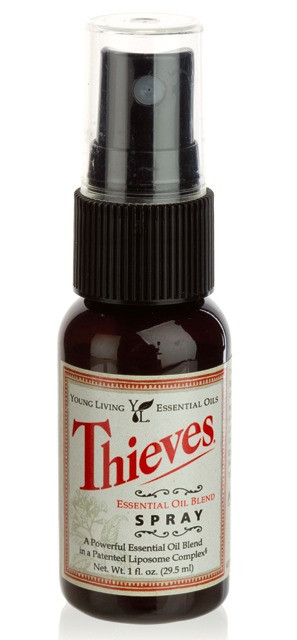 Thieves Spray Young Living for Travel