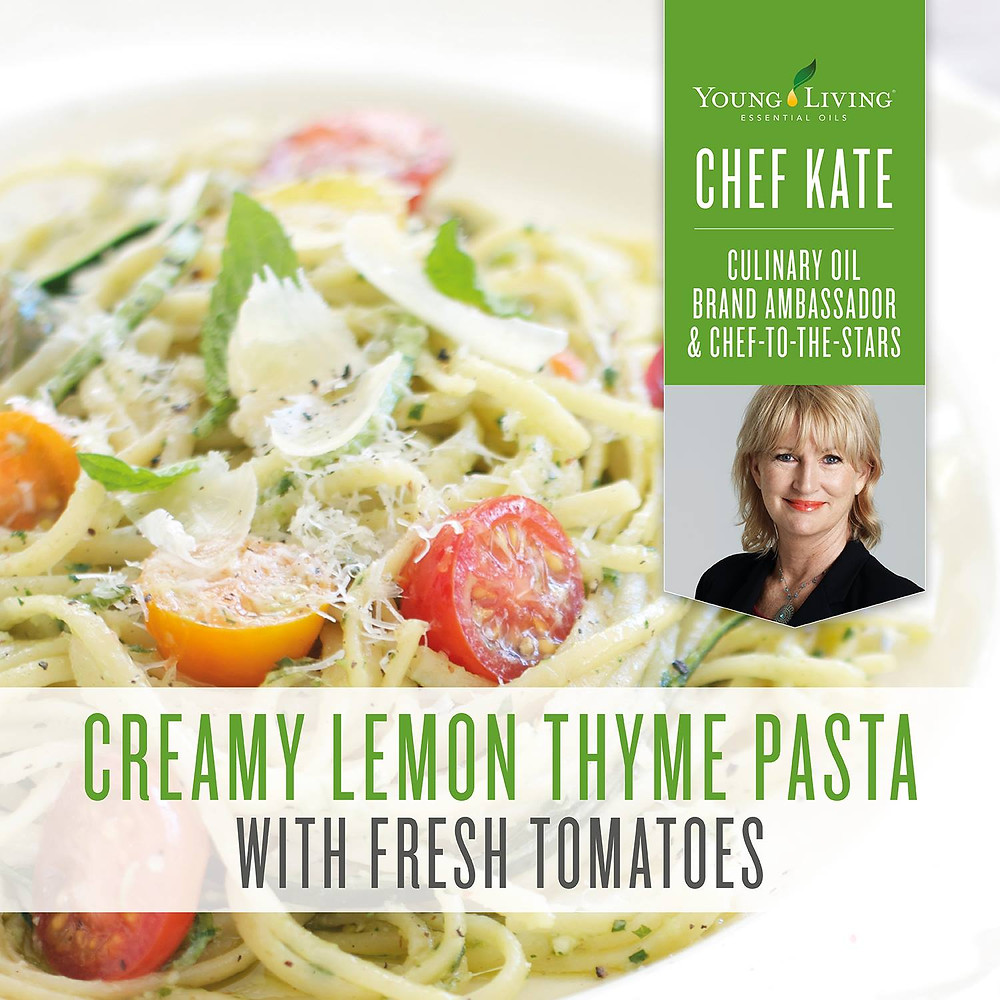 Creamy Lemon Thyme Pasta Recipe with Thyme and Lemon Essential Oil