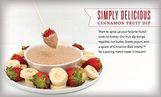 Cinnamon Fruit Dip Recipe with Cinnamon Essential Oil Australia