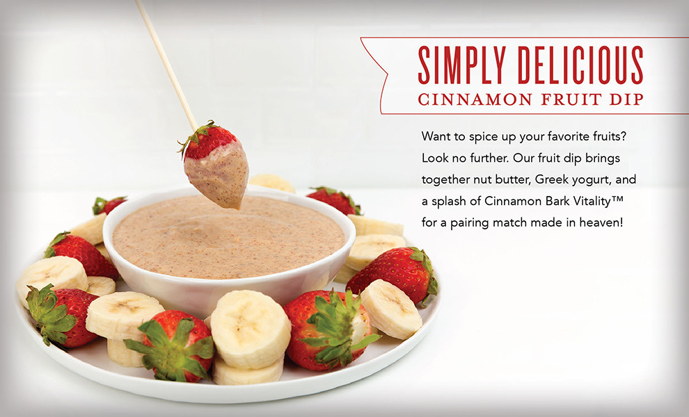 Cinnamon Fruit Dip Recipe with Cinnamon Essential Oil