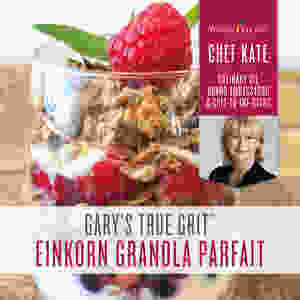 Einkorn Granola Parfait Recipe with Lemon Essential Oil