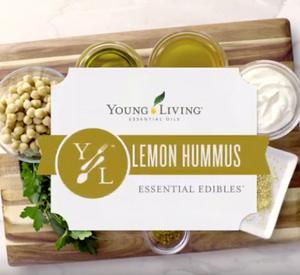 Hummus Dip Recipe with Lemon Essential Oil