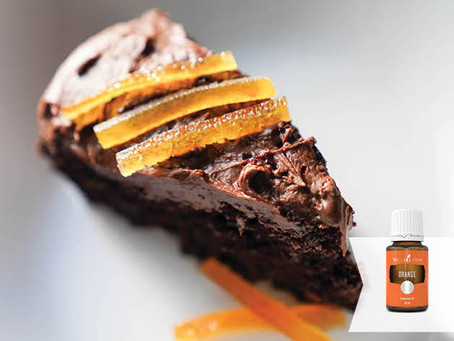 Orange Vegan Chocolate Cake Recipe with Orange Essential Oil