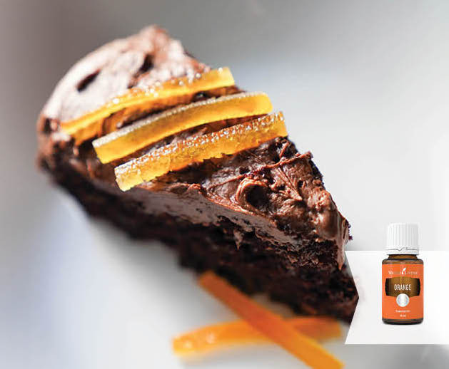 Orange Vegan Chocolate Cake with Orange Essential Oil