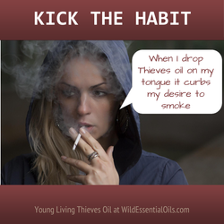Thieves oil for quitting smoking