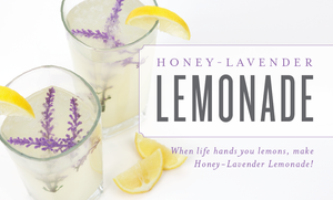 Honey Lavender Lemonade Recipe with Lavender Essential Oil