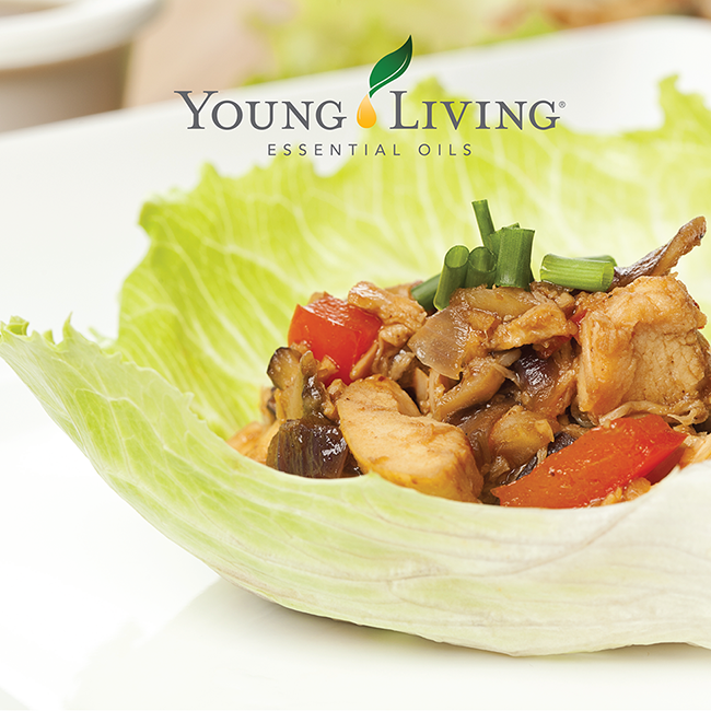 Thai Style Lettuce Wraps with Basil & Ginger Essential Oil