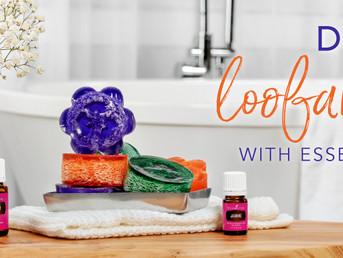 DIY Loofah Recipe with Lavender and Geranium Essential Oils