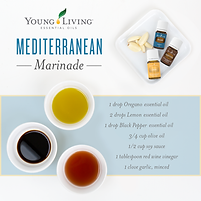 Mediterranean Marinade Recipe with Oregano, Lemon and Black Pepper Essential Oil