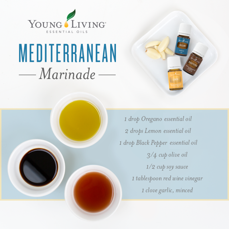 Mediterranean Marinade Recipe with Oregano, Lemon & Black Pepper Essential Oil