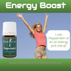 Peppermint essential oil for energy