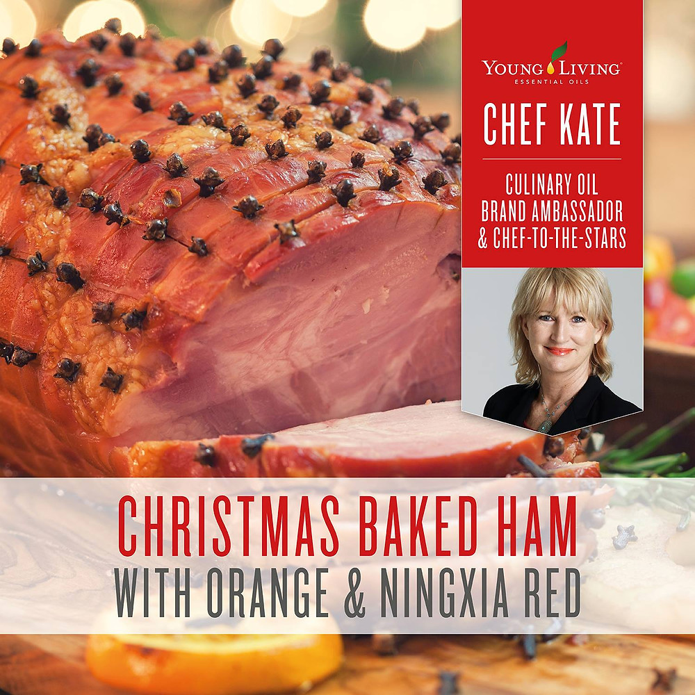 Baked Ham Recipe with NingXia Red Juice, Orange and Black Pepper Essential Oils