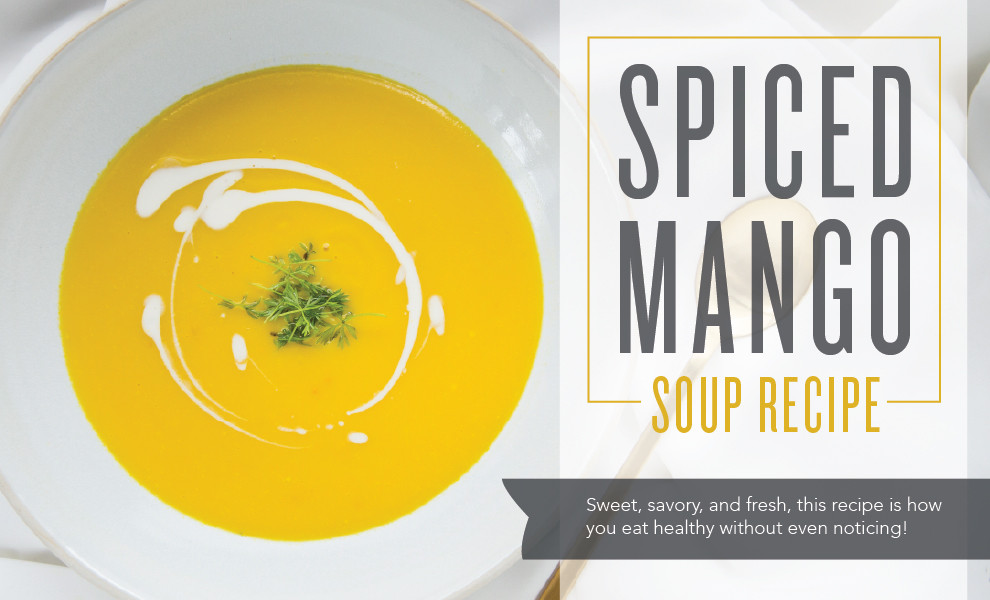 Spice Mango Soup Recipe with Lemongrass & Cinnamon Essential Oil