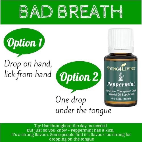 Peppermint essential oil- Bad Breath