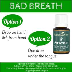 Peppermint essential oil- Bad Breath