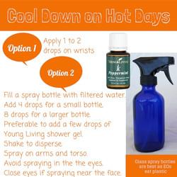 Peppermint oil Cool Down Spray
