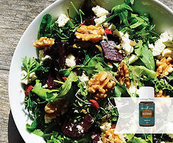 Beetroot Fetta Salad recipe with rosemary essential oil