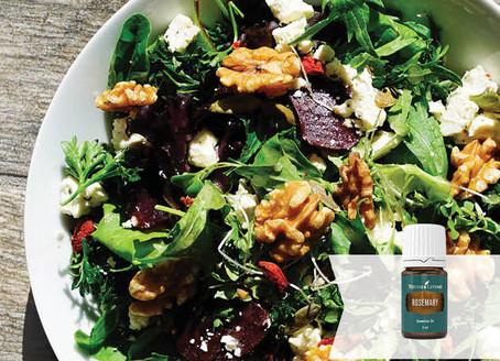 Beetroot Fetta Salad with Lemon Rosemary Vinaigrette with Rosemary oil and Lemon essential oil