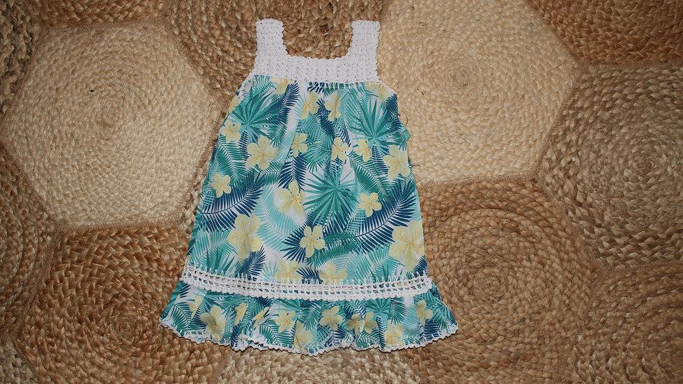 Crochet Coral Dress
