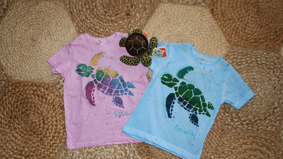 Hand Painted Turtle T-shirt