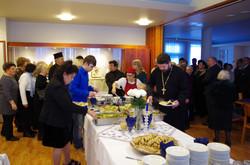 Juhla seurakuntasalilla