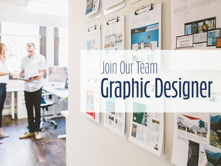 Now seeking a Graphic Designer to join our team